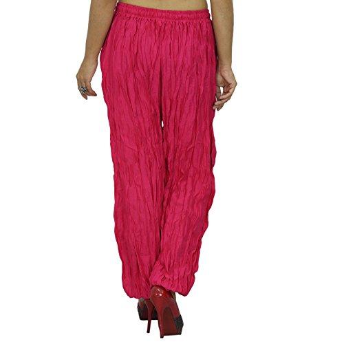 Frauen Indische Hosen Yoga Harem Aladdin Hosen beiläufige Alibaba Harem Rosa