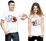 t-shirteria Coppia T-Shirt San Valentino Puzzle - Love - Valentine's Day - Idea...