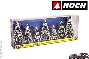 NOCH 25087 - Árboles de Nieve (7 Piezas, 8 a 12 cm, 7 Unidades, 8 a 12 cm de Alto), Color Blanco