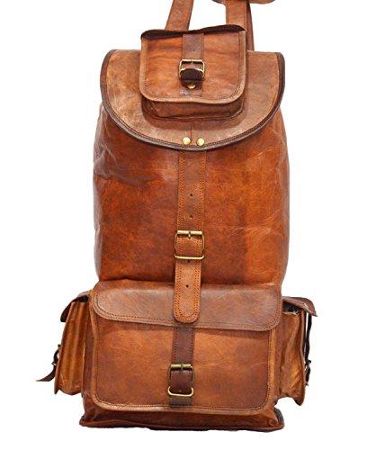 Mad Over Shopping, Vintage handgefertigte echte Leder Tasche Rucksack Rucksack Gepäck Reisetasche (Mode-reise-gepäck-kollektion)