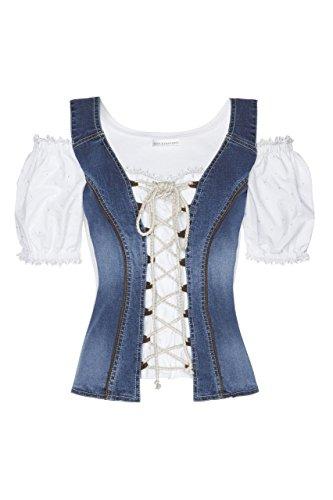 Stockerpoint - Damen Trachten Mieder true blue, Maxim, Größe:44, Farbe:True blue