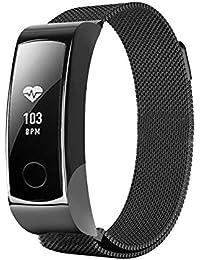 Mira la Banda,Pulsera Huawei Glory Wristband 3 Pulseras Smart Watch Healthy Pulsera,Nueva luz de Moda Pulsera Correa de Reloj Correa de Reloj Inteligente Xinan Correa (Negro)