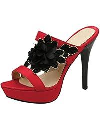 YMFIE Estate moda retrò casual accogliente fondo piatto punta sandali da donna scivolare sandali da spiaggia,...
