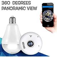 SmartCam CCTV 2MP IP Camera VR 1080P LED FishEye 360 Degree Home Phone Hidden Light Bulb IR Night Wireless WiFi Panoramic Camera