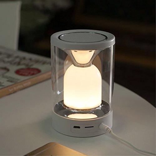 Nachtlicht Bunte Bluetooth Akustische Lautsprecher Moderne mode led bett energiesparende verstellbare touch led-licht usb lade energiesparende weiches licht (Akustische Auto-lautsprecher)