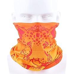 Unisex Hombre Mujer Multifuncional Headwear cabeza bufanda máscara de diadema, orange dragon