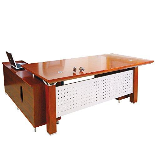 Chef Schreibtisch Birmingham rechts Büromöbel Eckschreibtisch Buero aus Echtholz in kirschbaum von Jet-Line (Büromöbel Chef)