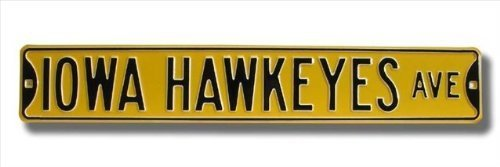 STEEL IOWA HAWKEYES AVE STREET SIGN by Authentic Street Signs - Star Street Sign