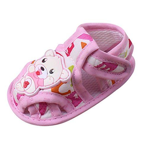 Clode® Baby Girl Boy Soft Sohle Karikatur Anti-Rutsch Casual Schuhe Kleinkind Sandalen Rosa
