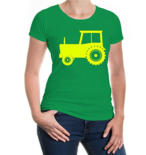 buXsbaum® Girlie T-Shirt Trecker Kellygreen-Neonyellow