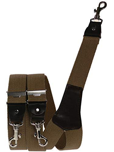Harrys-Collection Extra starker Hosenträger mit Karabinerhaken, Farben:camel, Größen:120 cm - Griff-collection