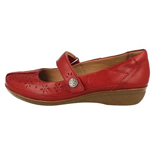 Clarks Everlay Bai Womens Casual Scarpe Red