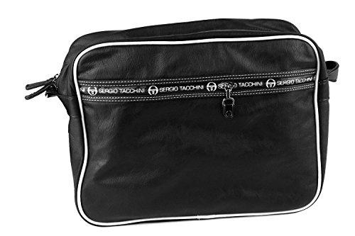 Cartella borsa uomo SERGIO TACCHINI nera messanger con tracolla F439