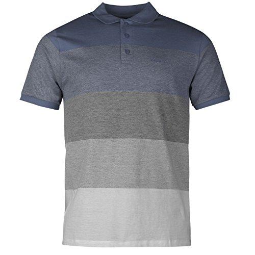 Pierre Cardin pannello polo da uomo navy/grigio top t-shirt tee, Navy/Grey, L