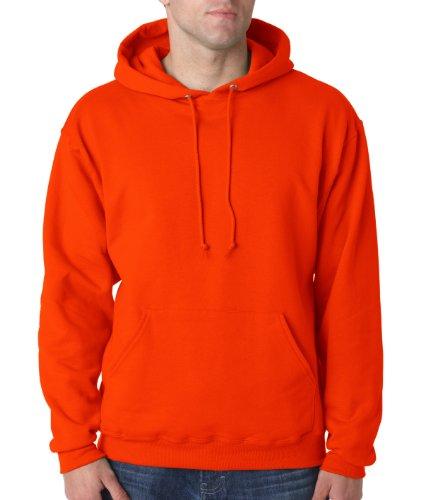 Wei§er Fu§ball auf American Apparel Fine Jersey Shirt Orange verbrannt