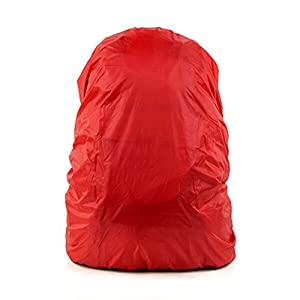 41zfbNIwW%2BL. SS300  - Set of 2 [RED] Camping/Hiking Ultrathin Water-proof Backpack Rain Cover,45-55L