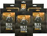 nu3 Beef Jerky Protein Carne di Manzo Secca Proteica 6 x 50G | Manzo Essiccato 58% Proteine a Basso Contenuto di Carboidrati 4% e di Grassi 1,5% | Snack Proteico Veloce con Aroma Miele & Zenzero