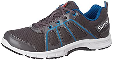 Reebok Men's Fast N Quick Ash Gry, Cycle Blu, Wht and Blk Running Shoes - 6 UK/India (39 EU)(7 US)