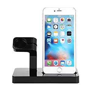Apple Watch StFACEVER Charging Dock iWatch Series 3/2/1 Charger Docking  Station iPho (Black)