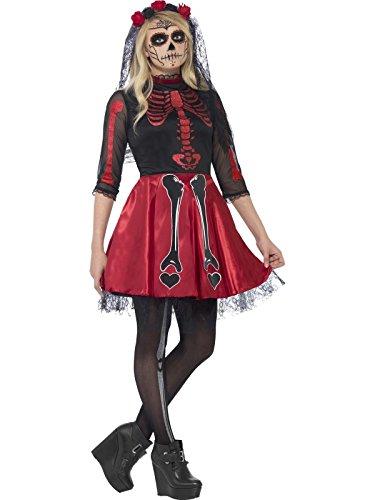 Generique - Rotes Skelett Kostüm für Junge Erwachsene - Halloween