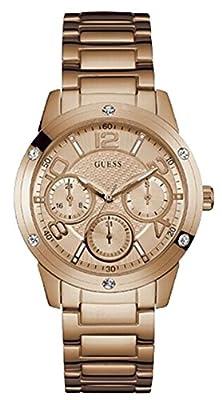 Guess Studio W0778L3 - Reloj de mujer de cuarzo , de acero pavonado en rosado, sumergible 50 m de Guess