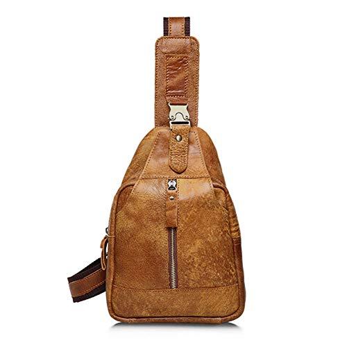 Men ' S Head Layer personalisierte Retro Single Shoulder Oblique Cross Chest Bag Male Bag Male Bag,Brown,28cm*18cm*6cm