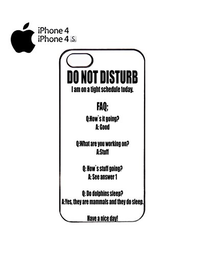 Do Not Disturb Tight Schedule Work Mobile Cell Phone Case Cover iPhone 5c Black Noir