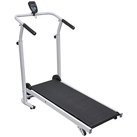 vidaXL Manuell Laufband Heimtrainer Hometrainer Fitnessgerät Speedrunner Klappbar mini