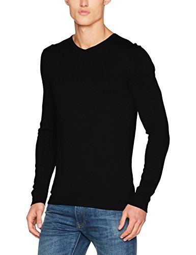 26ff7ef223ec9 Jack   Jones Premium Jprluke Cashmere Knit V-Neck Noos, Pull Homme, Noir