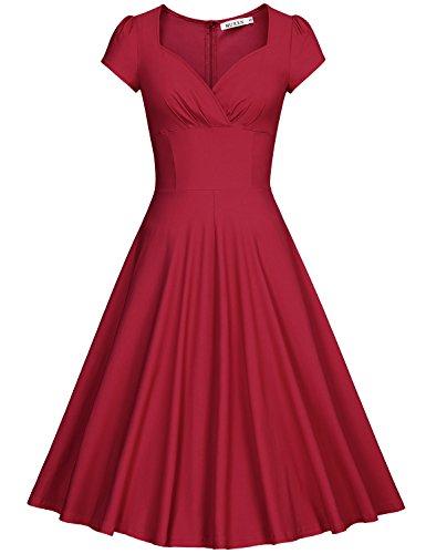 MUXXN Vestiti Donna Anni 50 Vintage Vestiti Donna Eleganti Da Cerimonia
