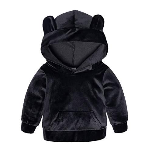 Baumwolle Kleinkind Kleidung (Yying Kinder Kleidung Jungen Sets Winter Weihnachten Kinder Kleidung Kleinkind Mädchen Jungen Kleidung Sets Baumwolle Mädchen Sport Anzüge Schwarz 130)
