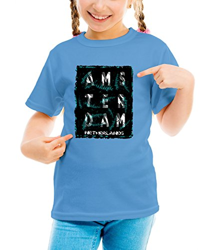 Billion Group | Netherlands | City Collection | Girls Classic Crew Neck T-Shirt Blu X-Large