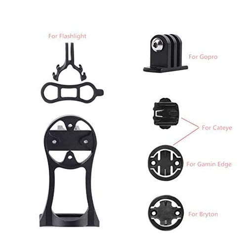 Yuhtech Sostegno da Bici per GPS, Supporto Manubrio per Garmin Edge/Bryton Rider/CatEye Porta navigatore Bike Computer