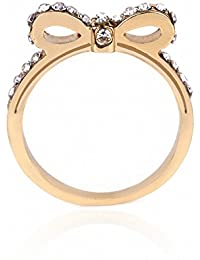 TBOP RING THE BEST OF PLANET SIMPLE & STYLISH Cute Bowknot Ring Fashion Diamonds Wild Ring Jewelry Ring In Golden...