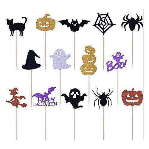 Halloween Kürbis Cupcakes Dekorieren - Demarkt Halloween Party Picks Spieße Picker