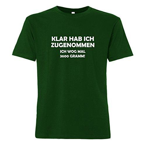 ShirtWorld - Klar hab ich zugenommen ich wog mal 3600 Gramm - T-Shirt Grün
