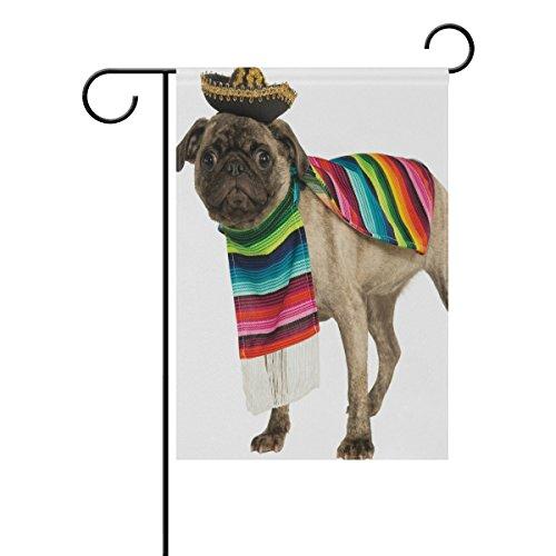 MUMIMI mexikanischen Pet Dog Wearing Kostüm Deko doppelseitig Garten Flagge 28x 40(in)