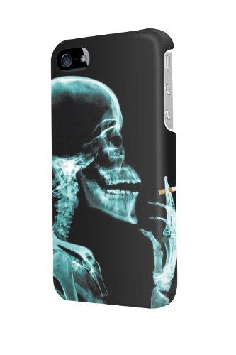 IP40291smoking Man in x-rays divertente custodia lucida per iPhone 4/4S