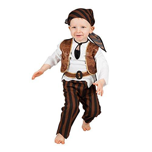 inder-Kostüm Piraten Baby, Gr. 92-98 ()