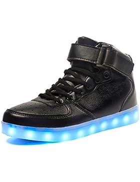 Maniamixx LED High-top Carga Zapatillas infantil luminoso casual sneaker para Niños Niñas