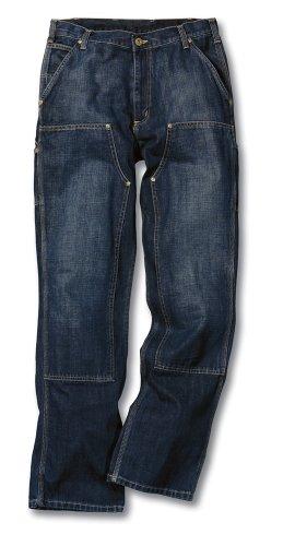 Bein Traditionellen Fit-jeans (Carhartt Arbeitshosen Jeans Hosen Double Front EB227, Größe:W38/L34, Farbe:Dunkelblau)