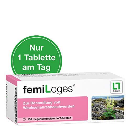 femiLoges, hormonfreie Unterstützung in den Wechseljahren - 100 Tabletten, belegte Wirksamkeit bei typischen Wechseljahresbeschwerden wie Hitzewallungen, Schlafstörungen, depressive Verstimmungen und Ängstlichkeit -