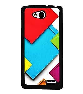 Colourful Pattern 2D Hard Polycarbonate Designer Back Case Cover for LG L90