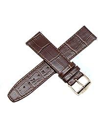 Akcesoria Biżuteria i Zegarki Jacques Lemans Uhrenarmband Ersatzband Lederband weinrot 20 mm JL-weinrot-20G