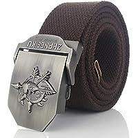 LLZGPZPD Cinturón De Lona Hombres Cinturón De Lona Soul Mask Metal Hebilla  Cinturón Militar Ejército Táctico 469cb70a5fa1