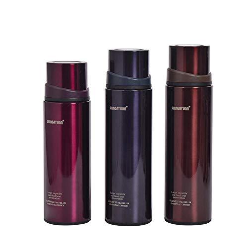 WENSISTAR Thermosflasche,Große Kapazität Edelstahl-Isolierflasche, Outdoor-Sport-Wasserbecher, Prallabdeckung Auto Wasserkocher @ Purple_620ML,mobiler Kaffeebecher
