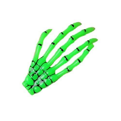 Grün Skelett Hand Motiv Halloween Haarspange Rockabilly