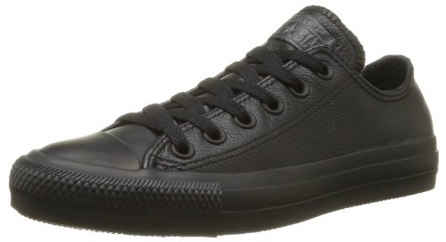 Converse, Chuck Taylor All Star Mono Leather OX, Sneaker,Unisex - adulto, Negro, 39 EU