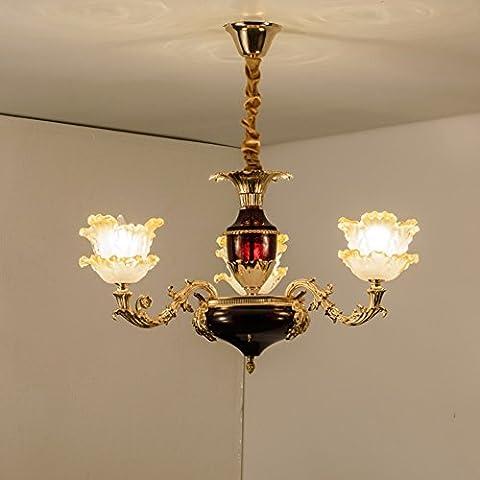 LighSCH Lustres Alliage Zinc restaurant est lumineux rouge chambre à coucher romantique française 65*50cm l'éclairage d'accueil