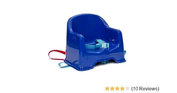 Strata Sitzerhöhung mit Befestigungsgurten und Tablett blau//rot